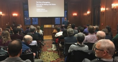 Provost Jonathan Holloway presents a Chabraja Center lecture