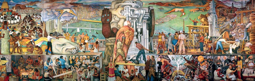 "Diego Rivera, ""Pan-American Unity Mural,"" 1940, City College of San Francisco."